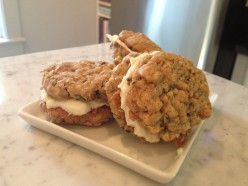 ZUCCHINI NUT COOKIE SANDWICHES