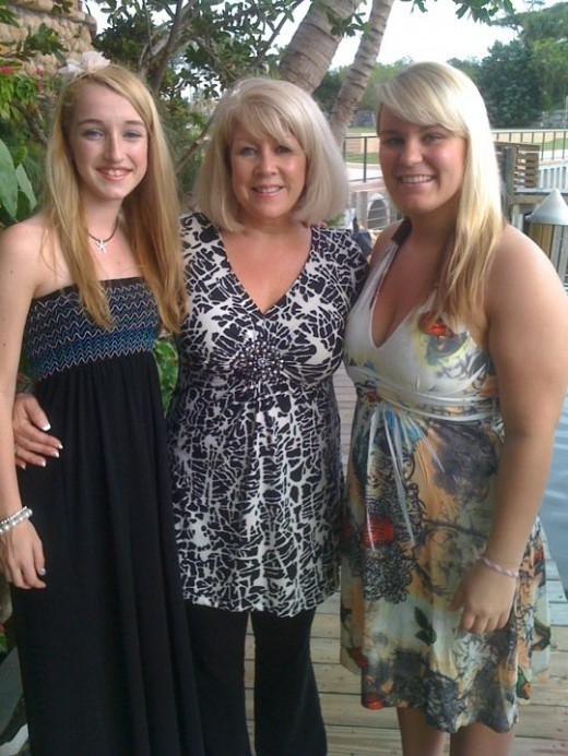 My daughter, her adoptive mother, and her sister