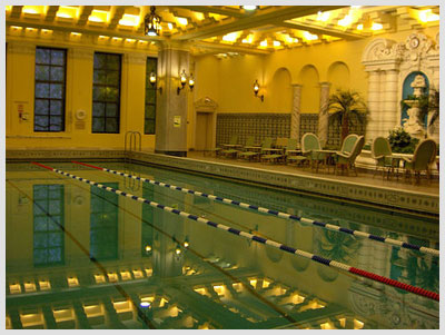 The legendary pool on the 12th floor of the InterContinental Chicago.