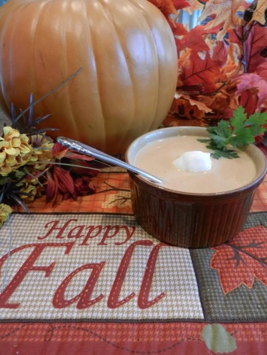 Creamy pumpkin soup!