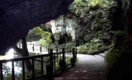 Looking under the bridge towards the cave where Ursula Southill was raised from infancy by her mother