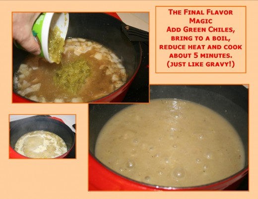 Final steps to making the sauce/gravy.