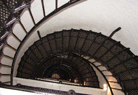 The Spiral Staircase inside the St. Augustine that goes up 14 stories.