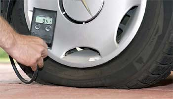 Make sure your tyres are fully inflated