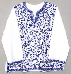 kashimiri embroidery on a kurta or a top