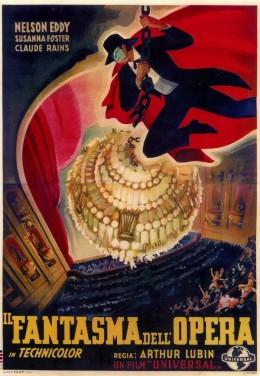 The Phantom of the Opera (1943) Italian poster