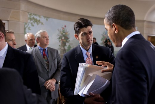 Paul Ryan standing strong before President Obama, circa 2010.