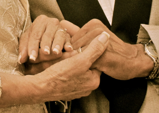 The hands of my parents during their 50th Anniversary.
