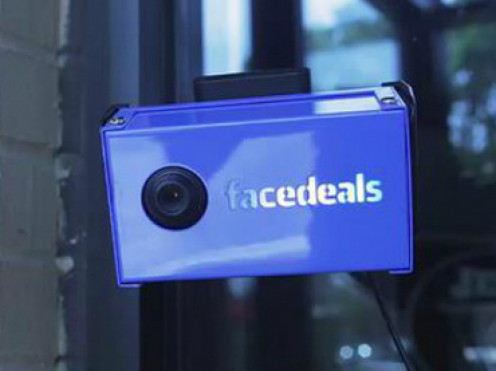 A Facedeals facial recognition camera.