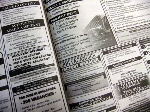 Searching for Jobs: Do your job searches on-line, in print as well as through your network.