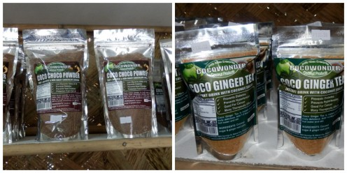 Coconut Choco Powder and Ginger Tea