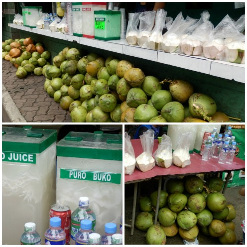 Coconut Juice Stall (Photo taken at the Quezon Memorial Circle, August 2012)