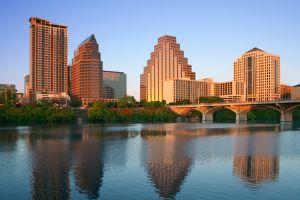 Austin, Texas  Skyline at Lady Bird Lake