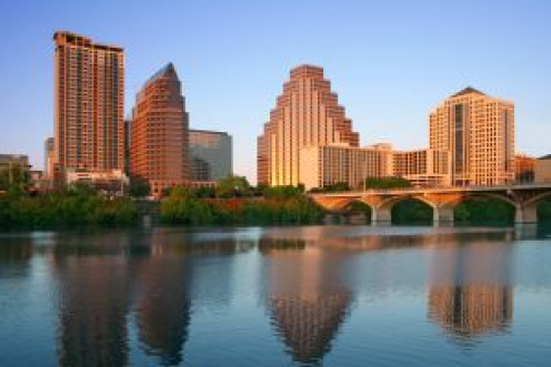 Austin, Texas  Skyline at Lady Bird Lake
