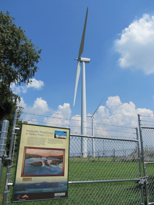 The 398 ft. tall wind turbines at Turkey Point in Lancaster County, PA