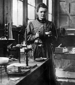 Marie Curie, discovered the radioactive element Polonium named after her home country Poland.