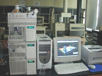 A typical High Performance Liquid Chromatograph used to separate compounds from  a liquid mixture.