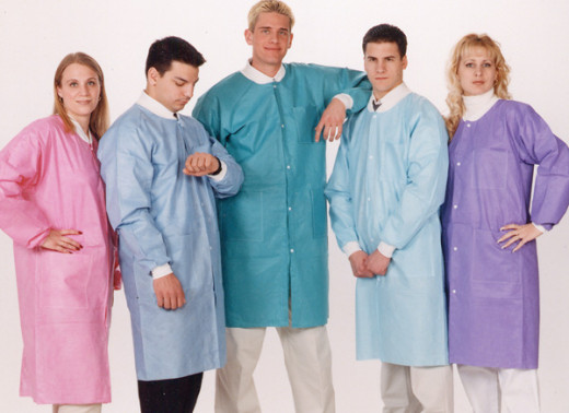 The new color and style of lab coats