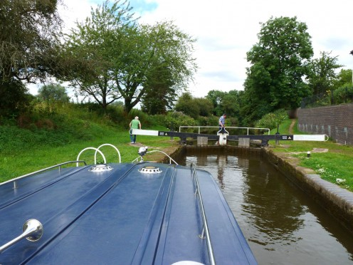 Opening the lock gates