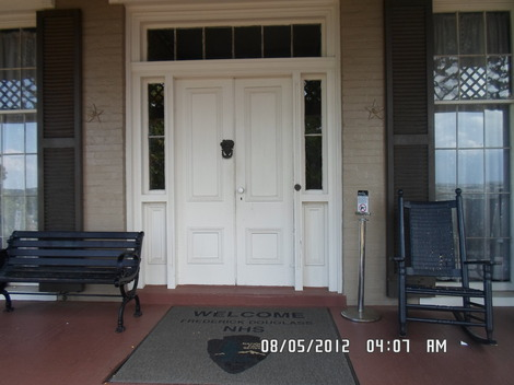 This is the front door to the home of Frederick Douglas.
