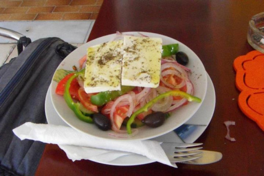 Greek salad that my friend had in the same restourant