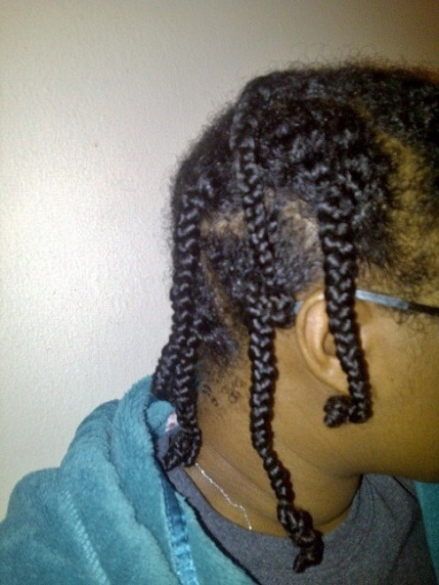 Sometimes I'll use small braids. It depends on the look I'm going for.