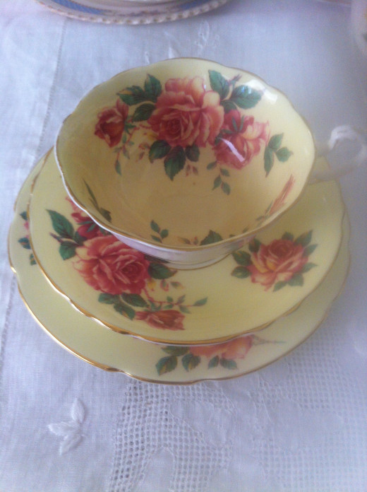 Pretty Cups, Saucers and Plates