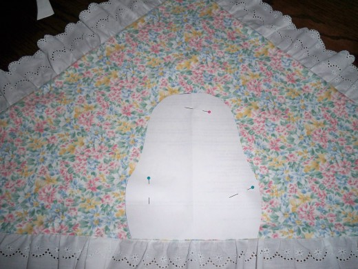 Pattern pinned above opening.