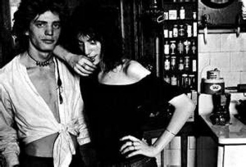 Patti Smith (right) and Robert Mapplethorpe