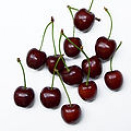Dark ripe cherries