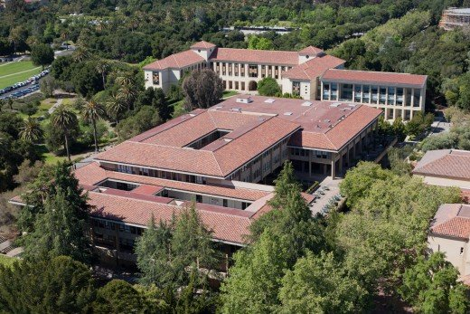 Graduate School of Business, as seen from Hoover Tower, Stanford University.