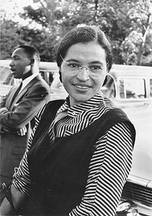 Rosa Parks. The lady who sat in the front section of the bus.