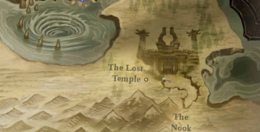 Finding the Nook will allow the hero to find the lost temple