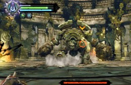Immobilize the construct hulk by throwing the shadow bombs at the hulk