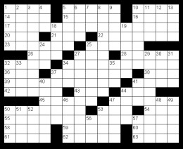 American Crossword Format
