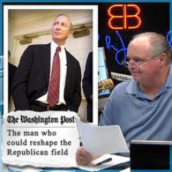 Republican Party.The Choice Between Mitch Daniels and Rush Limbaugh.