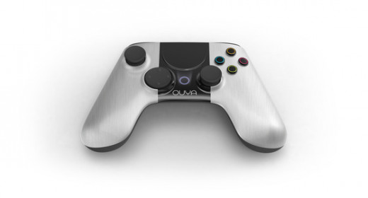 The OUYA will come with one controller.  This controller is very similar to most of the other console game controllers with one key exception, it has a touch screen in the center.