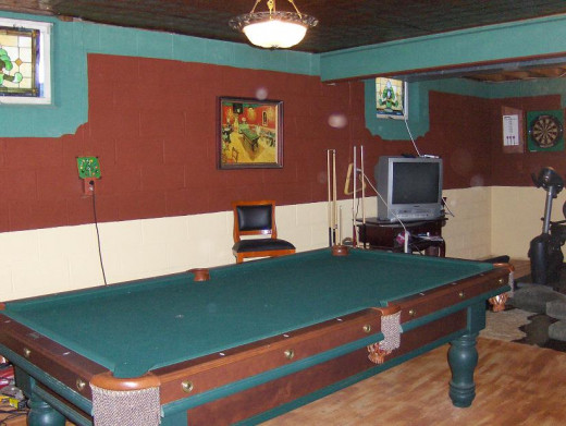 This was patterned after the picture on the wall-The Van Gogh Pool Hall