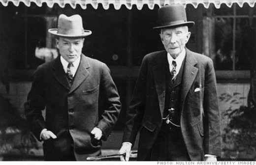 John D. Rockefeller with son John Junior