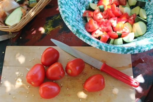 Add tomatoes last