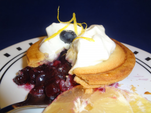 Blueberry with lemon garnish...sweet!