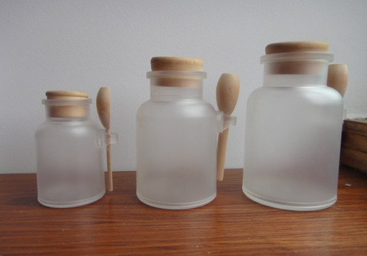Example of Decorative Bath Salt Jar