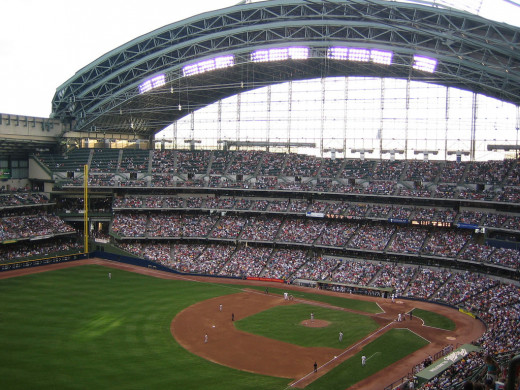 Miller Park with the roof open
