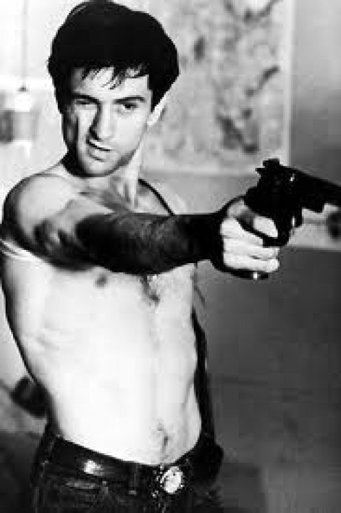 The Young Robert De Niro in Taxi Driver which was rated R and has lots of extreme violence. You looking at me!