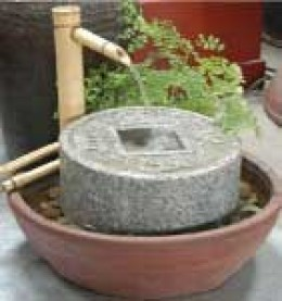 Coin-basin fountains encourage good fortune and income