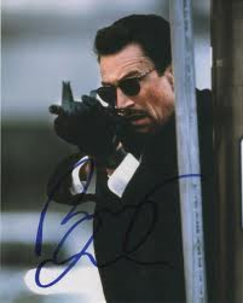Robert De Niro Stars in Heat along with another legend, Al Pacino. Pacino is a detective while De Niro is a gangster.