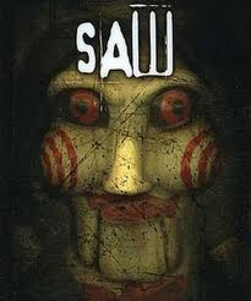 Saw is a horror film in which Jig Saw sets death traps for his prey. It has had seven total films in  all with the final film being made in 3D.