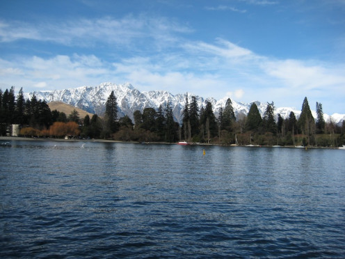 Lake Wakatipu and the Remarkables Mountain Range from the TSS Earnslaw