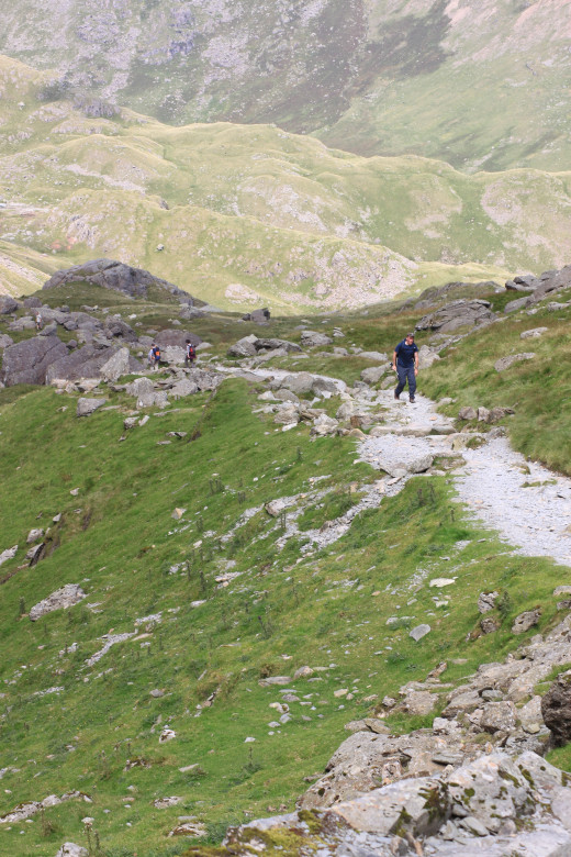You're no won the popular Tourist Route to Coniston Old Man so you'll see plenty of walkers