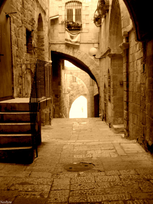 Alley in Jerusalem.